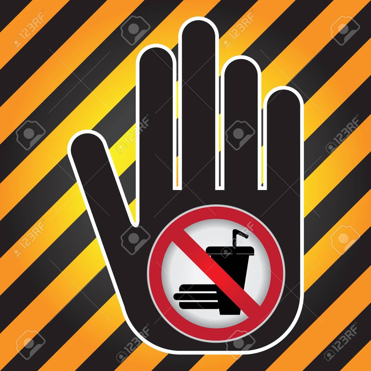 Keine Speisen Und Getränke Verboten Zeichen Gegenwärtig Von Hand ...