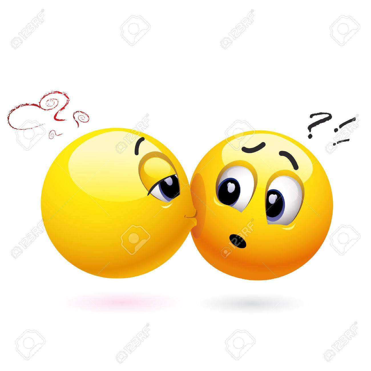 Smiling ball kissing another smiling ball Stock Vector - 4798257