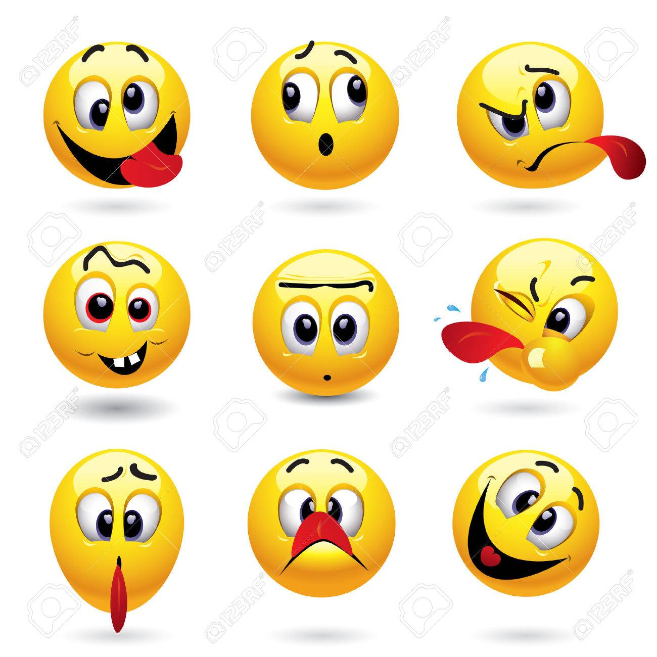 Smiley balls showing funny face Stock Vector - 5636610