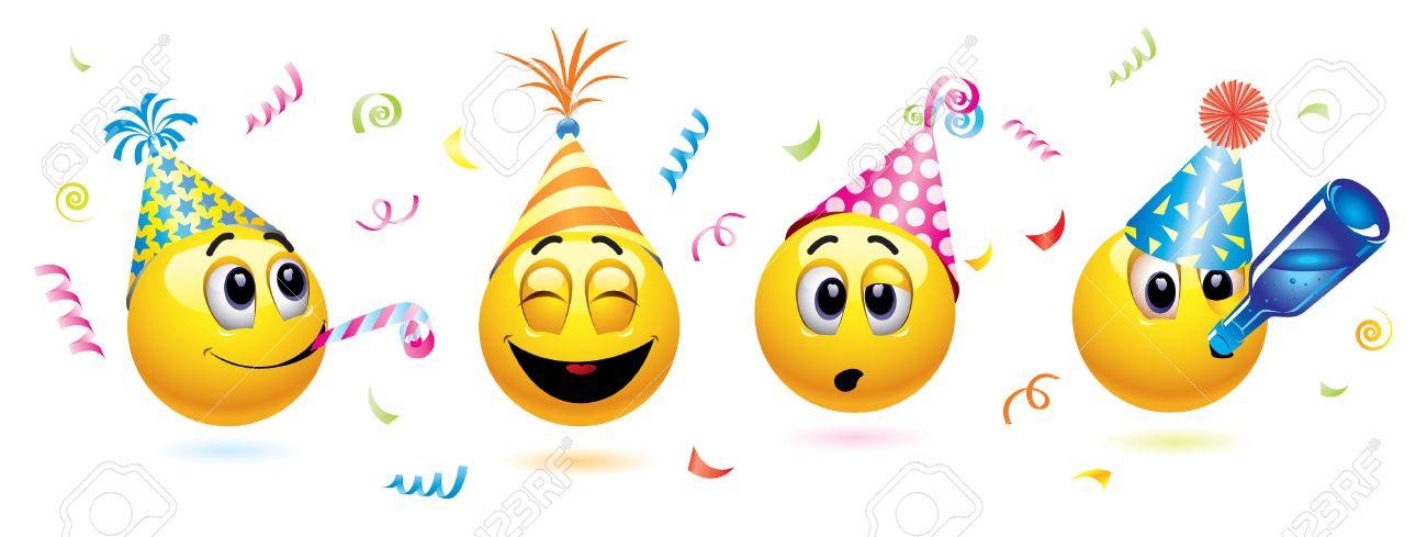 Joyeuses fêtes de fin d'année ;-) 5999977-Boules-de-Smiley-va-un-parti-Banque-d'images