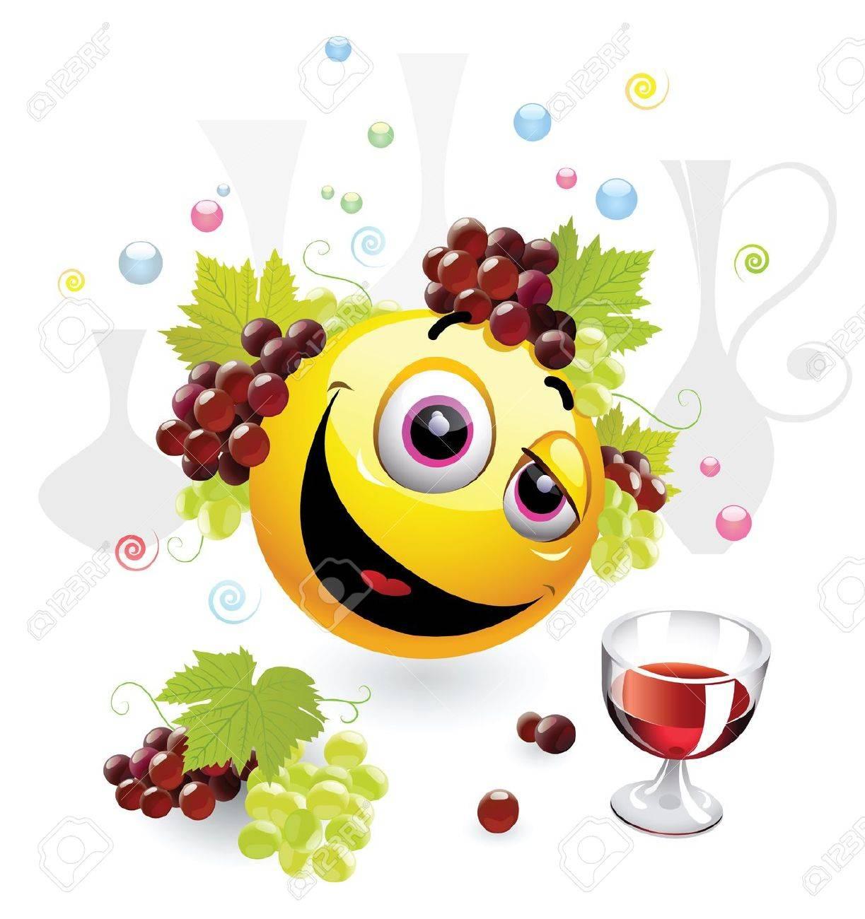 cartoon smiley drunk Drunk Emoticon