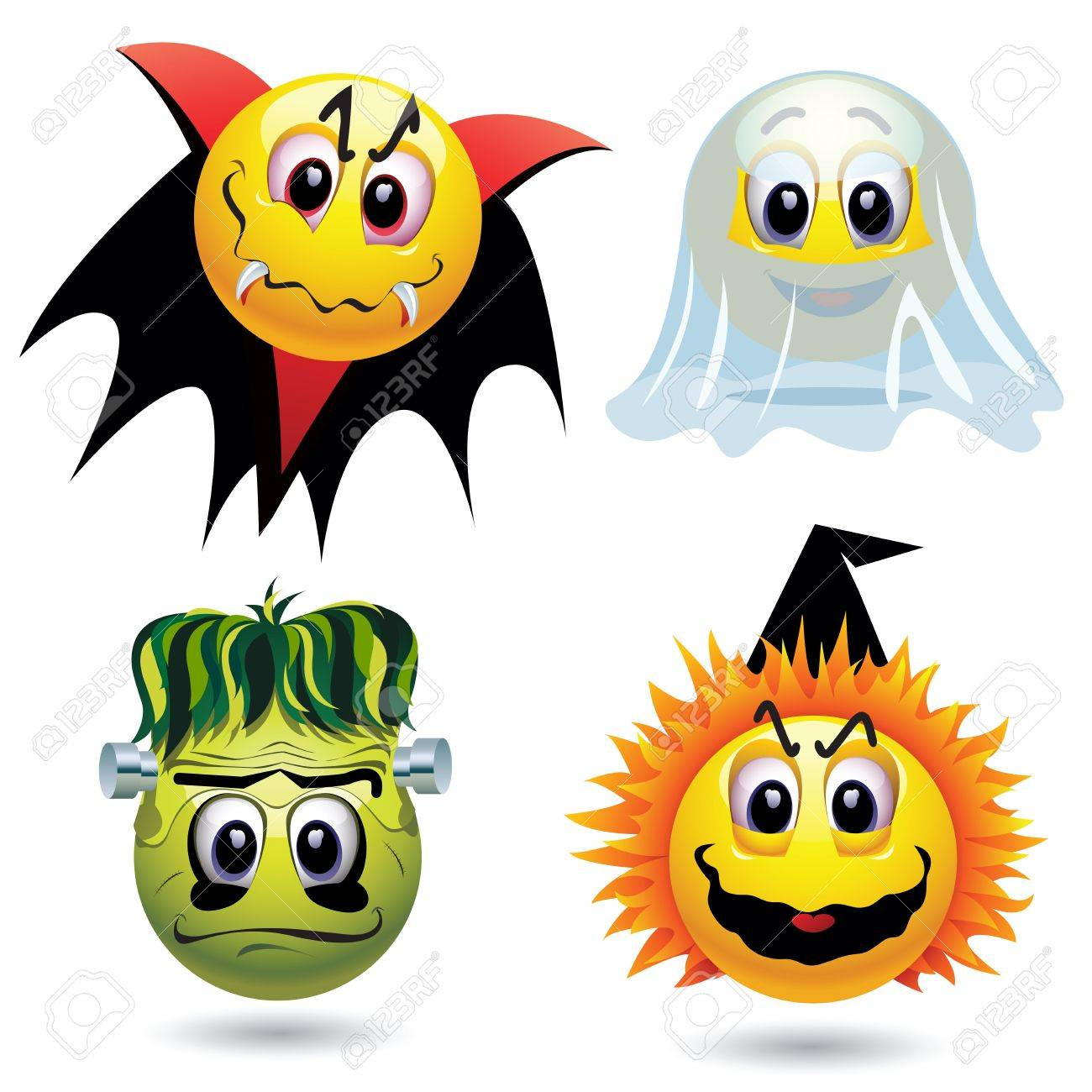 Smiley Balls With Halloween Mask Royalty Free Cliparts, Vectors ...