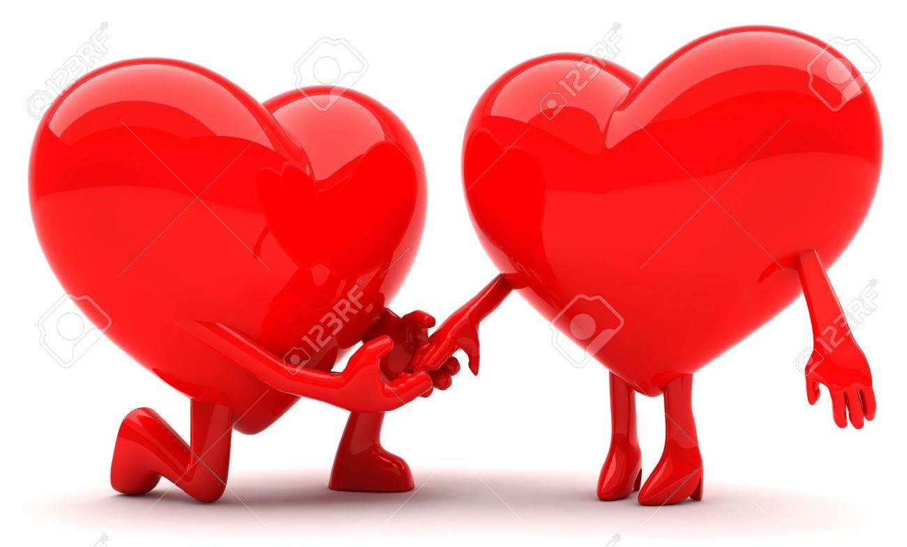 Heart shaped couple Stock Photo - 9844048