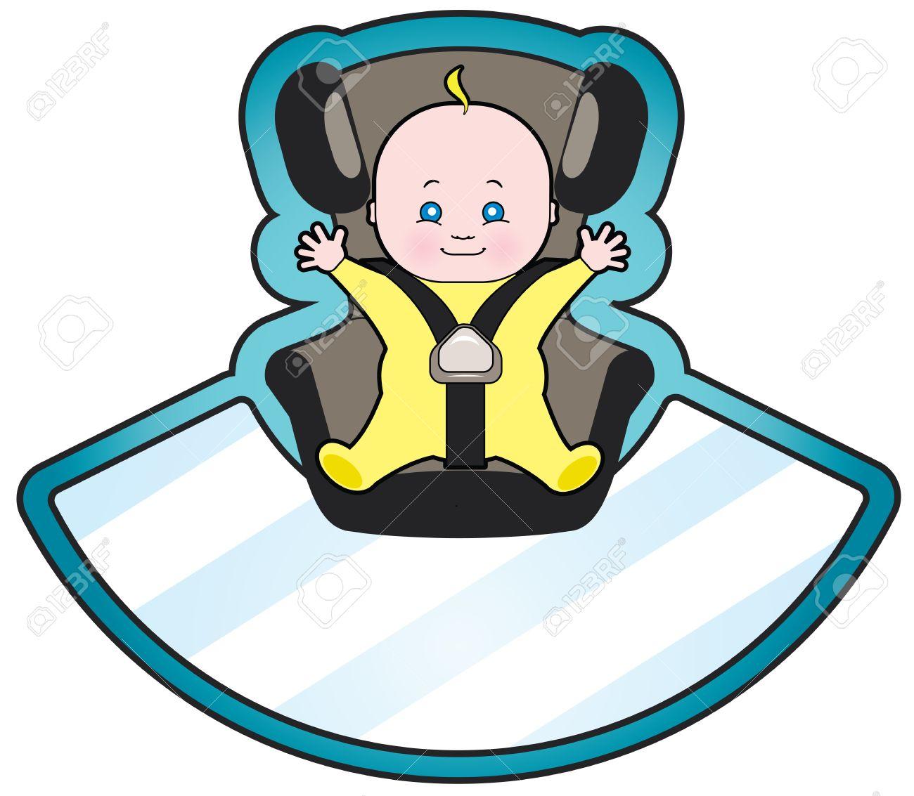 Vector Cartoon Of Baby In Car Seat Royalty Free Cliparts Vectors