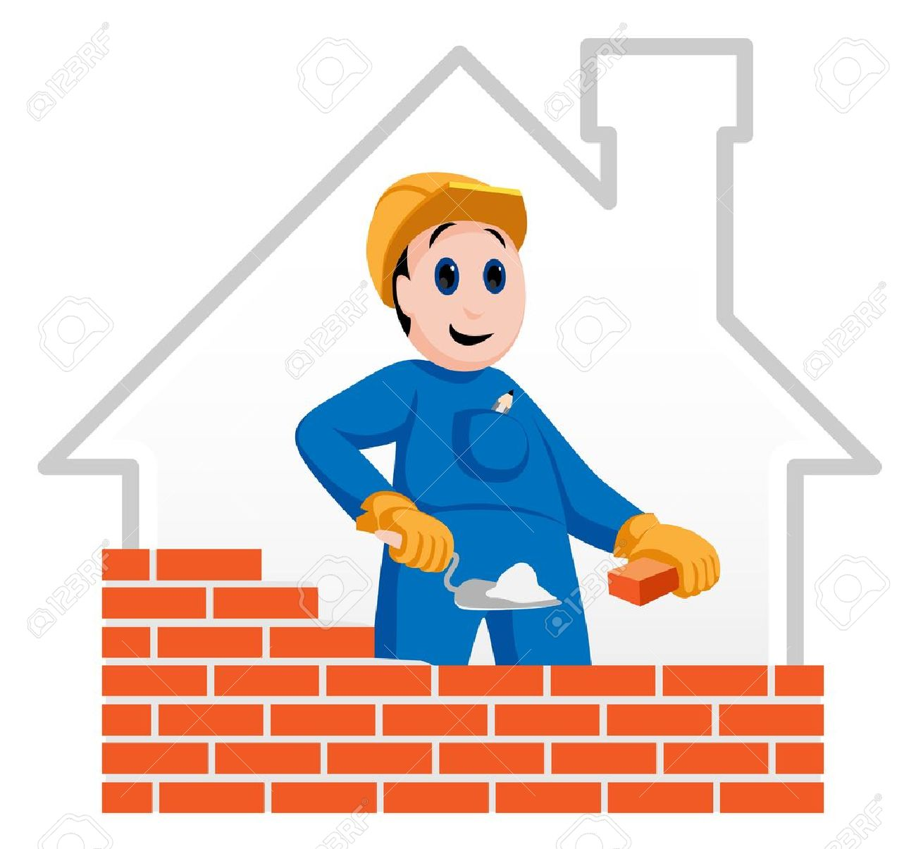 Building Construction Workers Clipart Construction Worker Building a