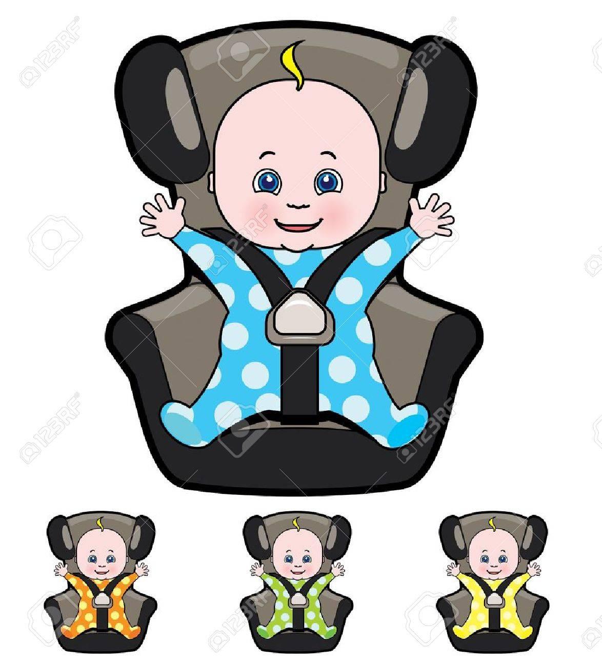 sillas coches bebes dibujo