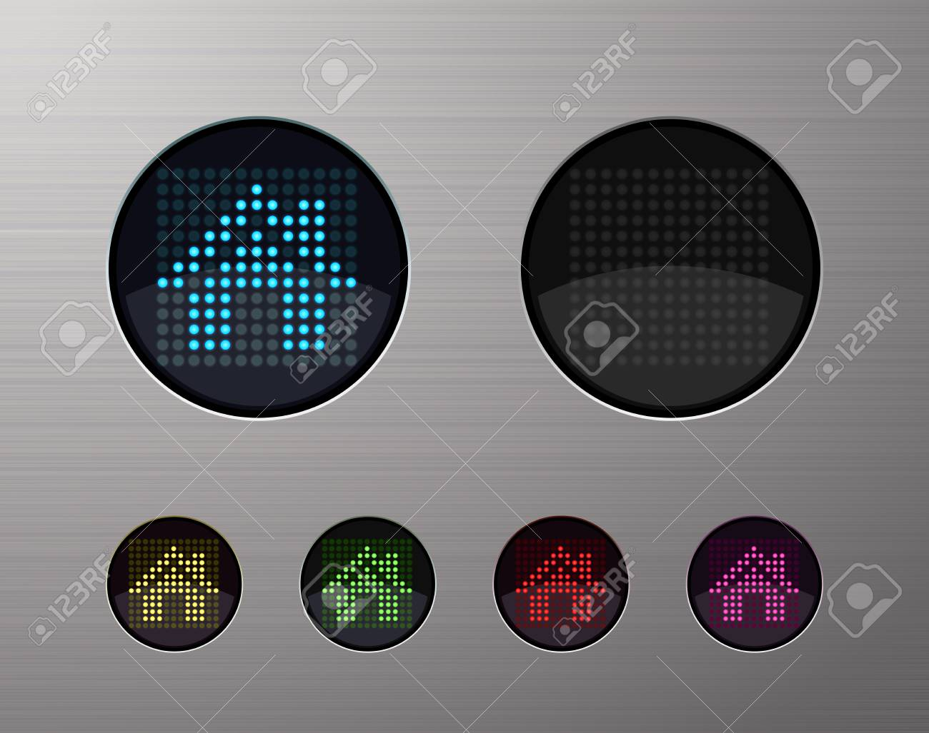 SHINY METALLIC WEB COMPUTER AND INTERNET BUTTONS Stock Vector - 15940965
