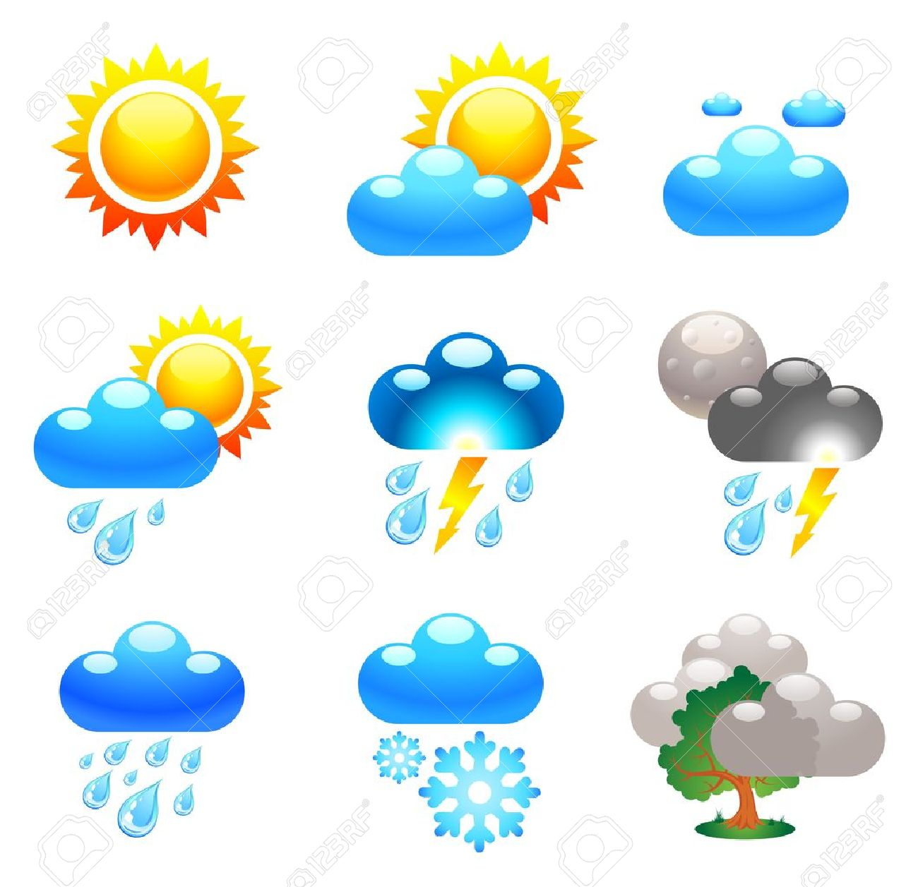 bb3a00815c Symbols Which Represent Weather Conditions Royalty Free Cliparts ...