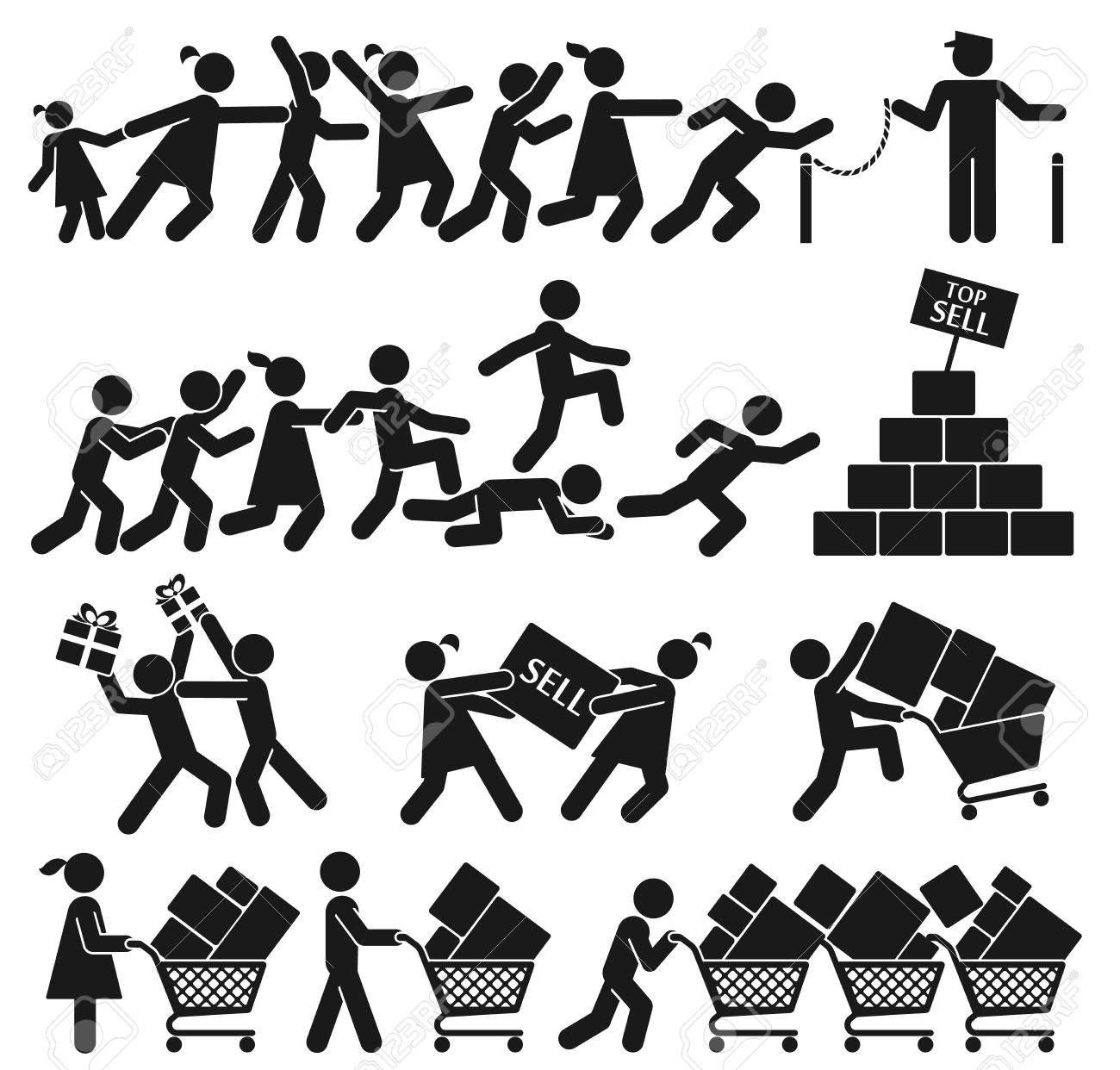 MEN AND WOMEN GO SHOPPING ON BLACK FRIDAY - 24536602