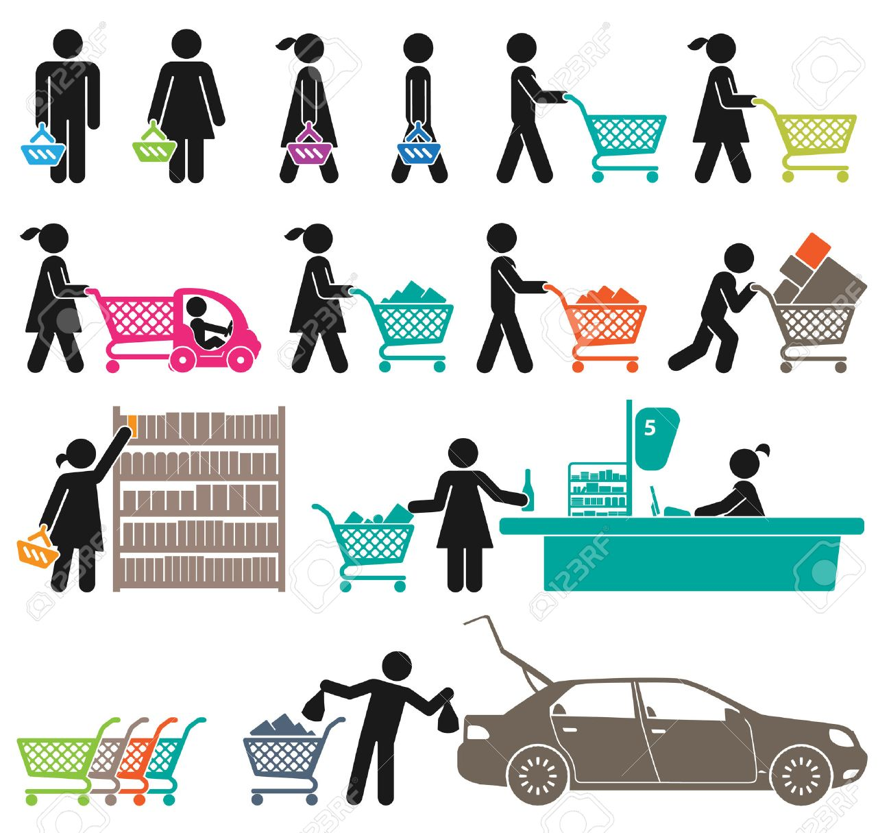 ICONS OF MEN AND WOMEN GO SHOPPING - 24539864