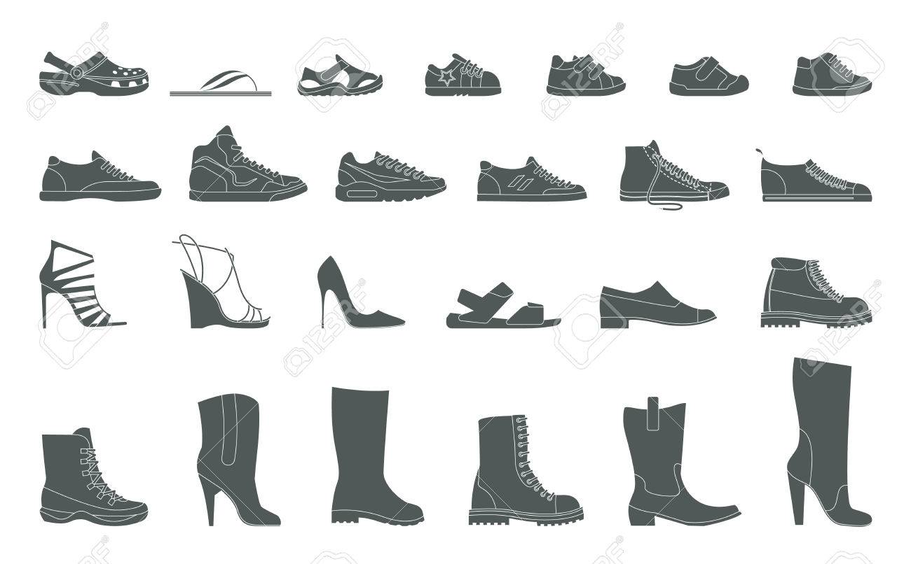 Collection Men's, Women's and children's footwear. Stylish and..