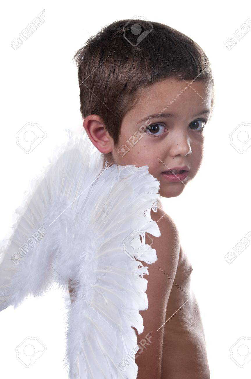 adorable child with angel wings Stock Photo - 10411695