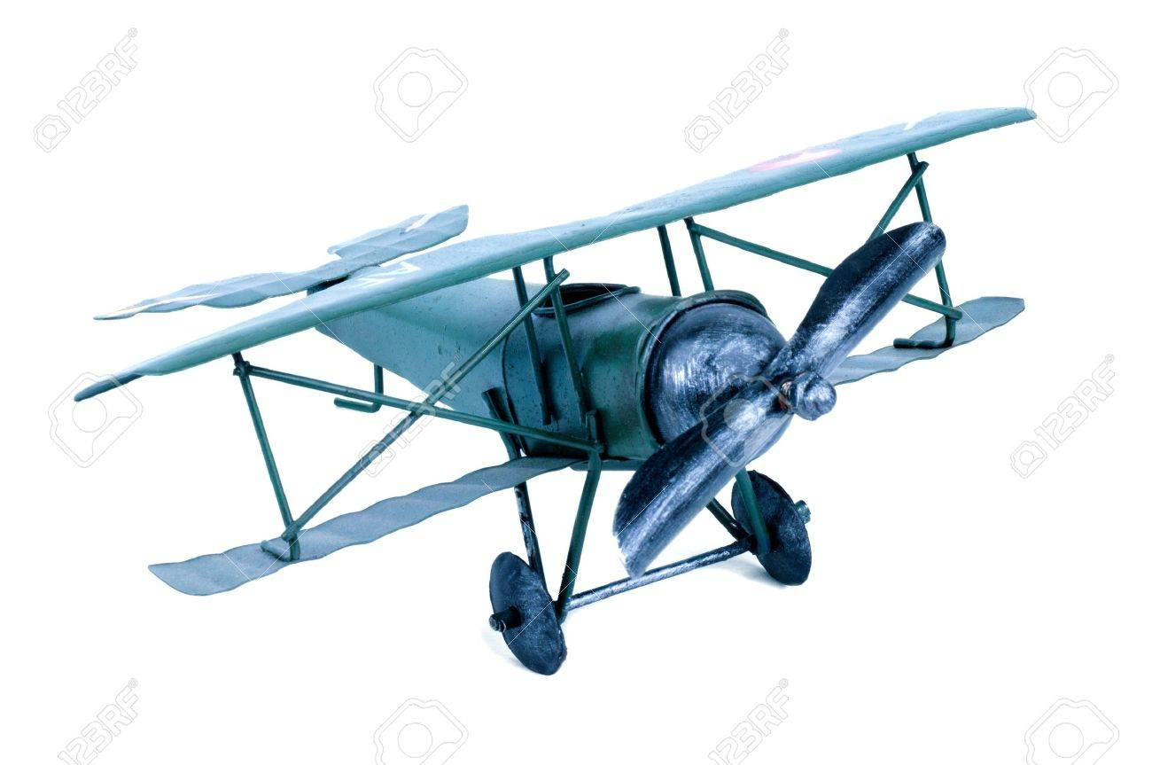 airplane old toy on white background stock photo picture and