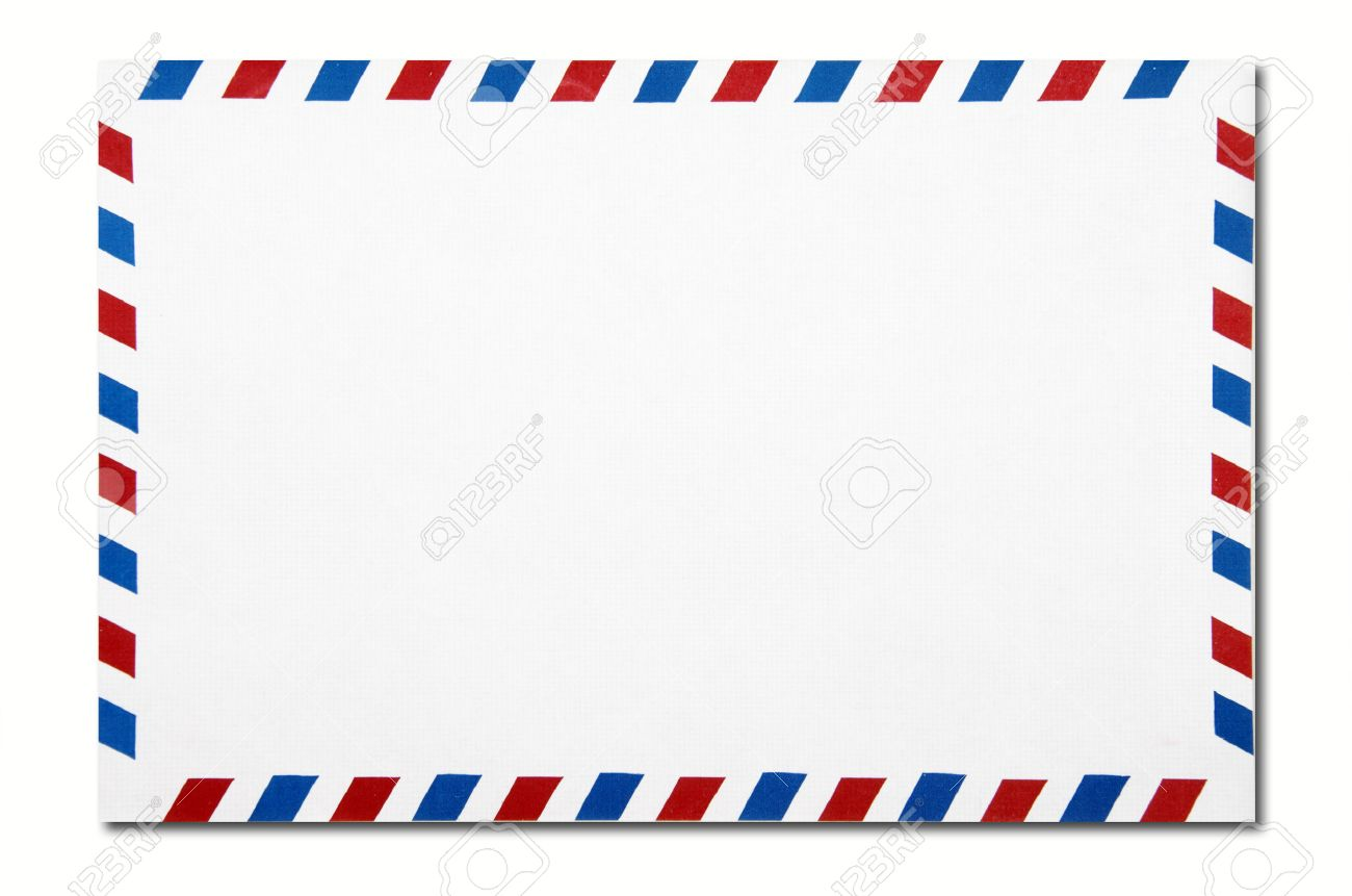 Classic Air Mail Envelope Isolated On White Background Stock Photo ...