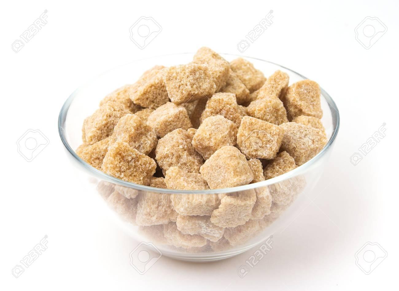 Brown sugar in a glass pot Stock Photo - 720750