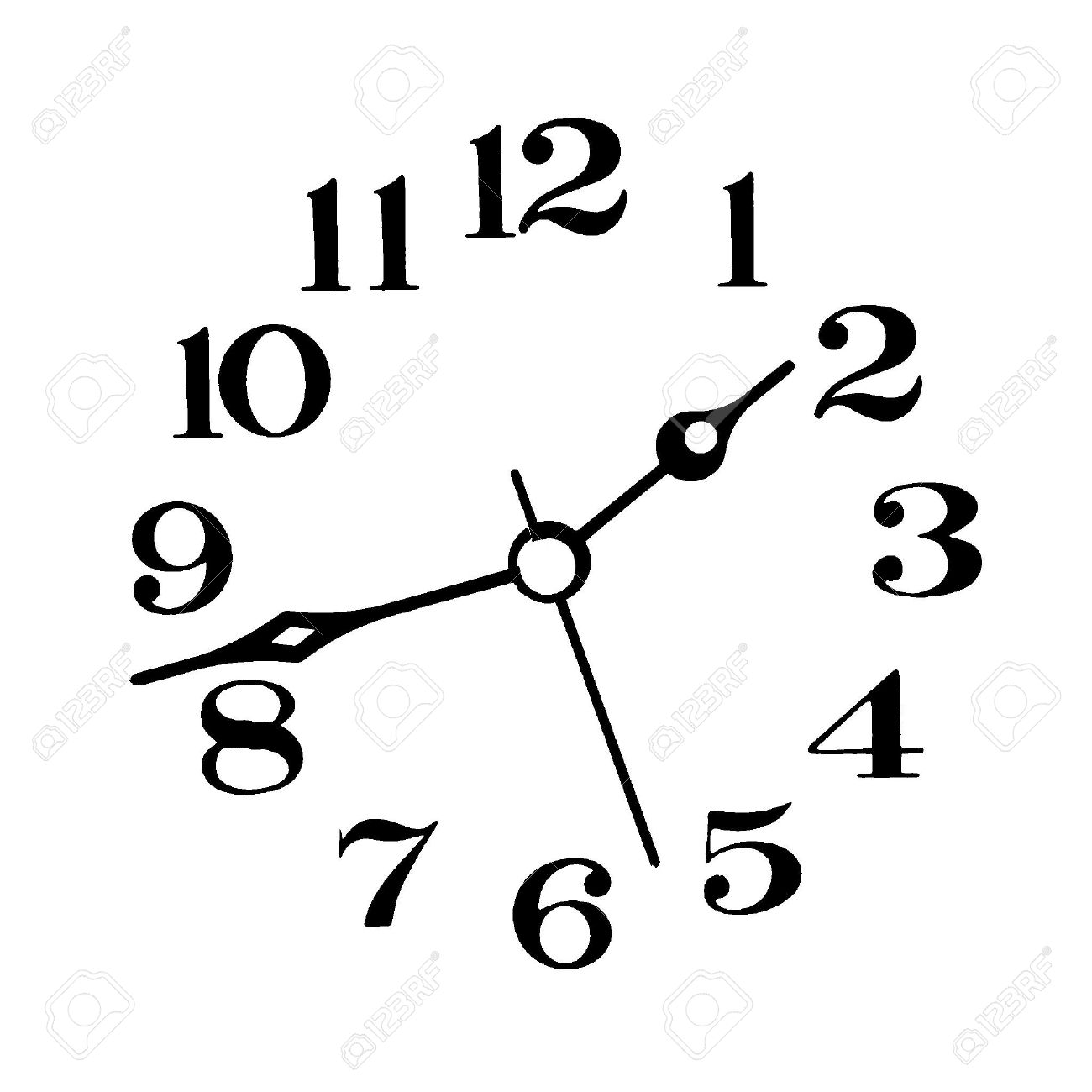 worksheet Clock Face With Hands clock face and hands black on white background stock photo 915303
