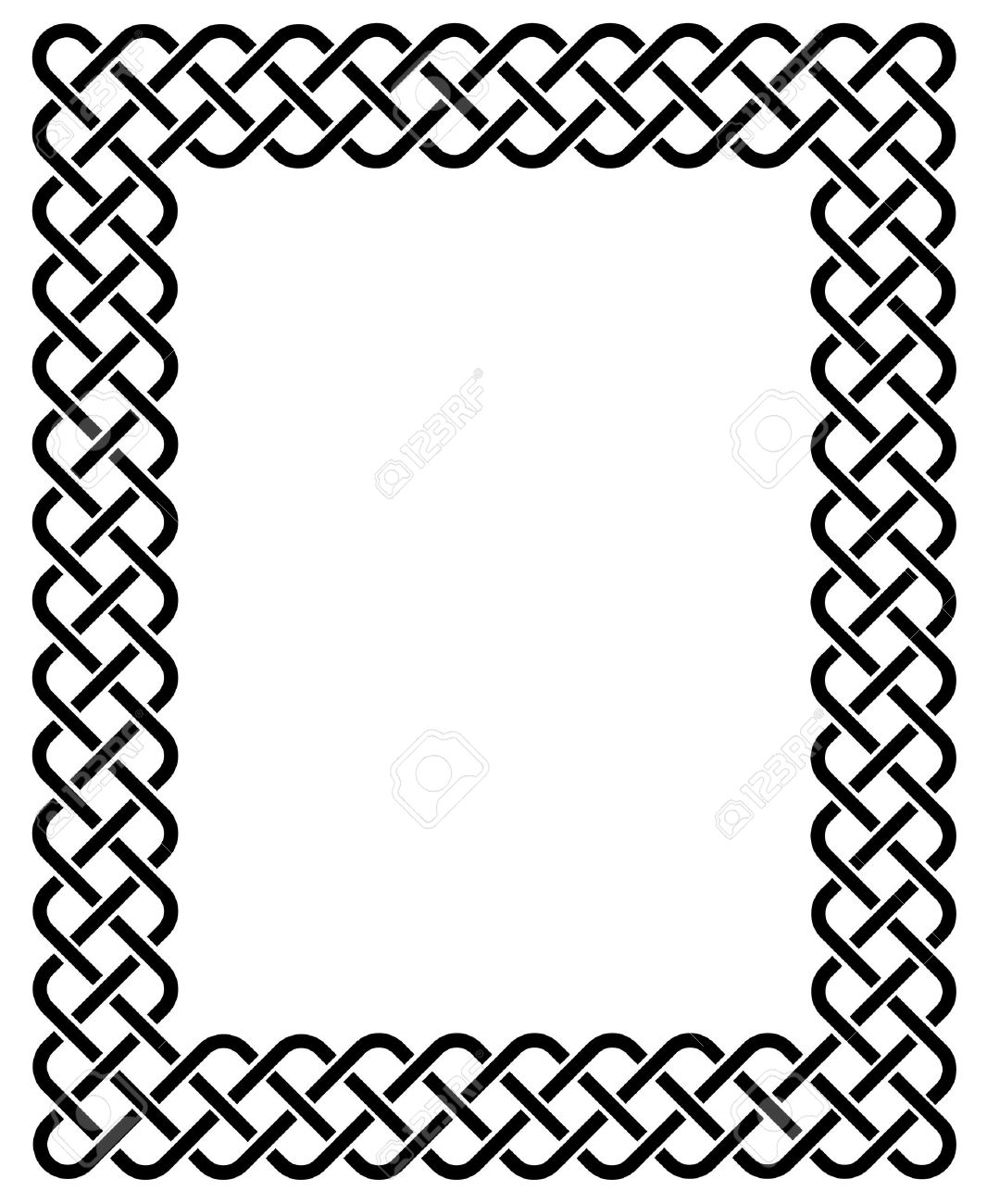 traditional celtic knot braided frame royalty free cliparts rh 123rf com celtic pattern border vector celtic pattern border vector