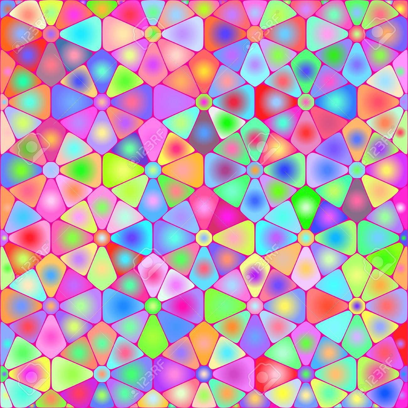 fondos abstractos con azulejos de colores psicodlicos foto de archivo