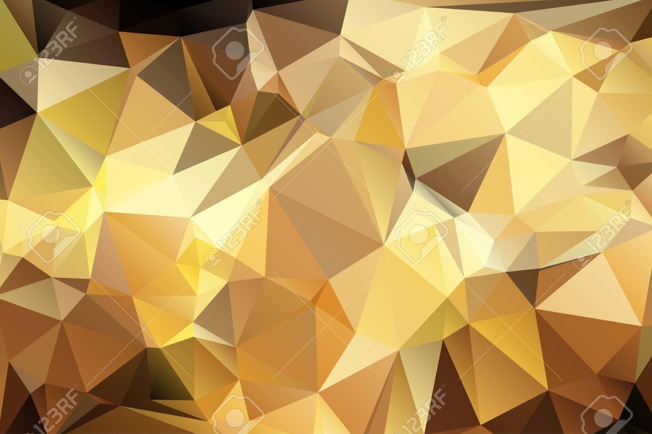 résumé triangulaire fond géométrique de couleur brun doré. clip art