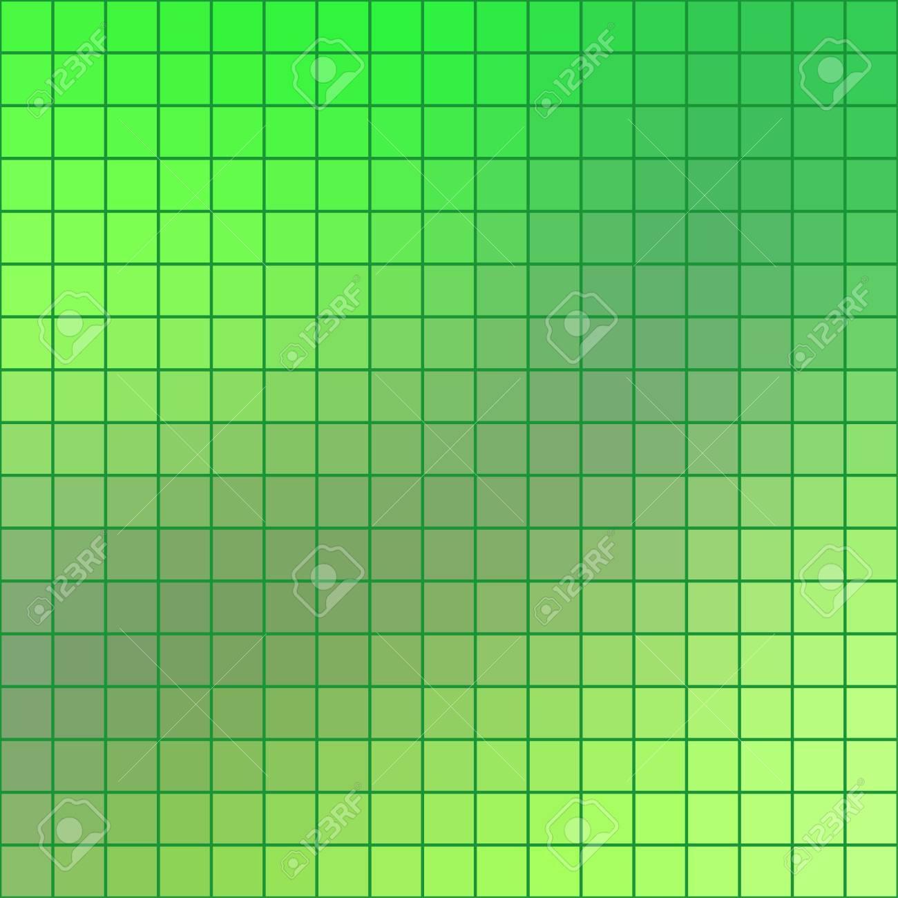 Resuma El Fondo Cuadrado Coloreado Verde Del Azulejo De Mosaico Para ...