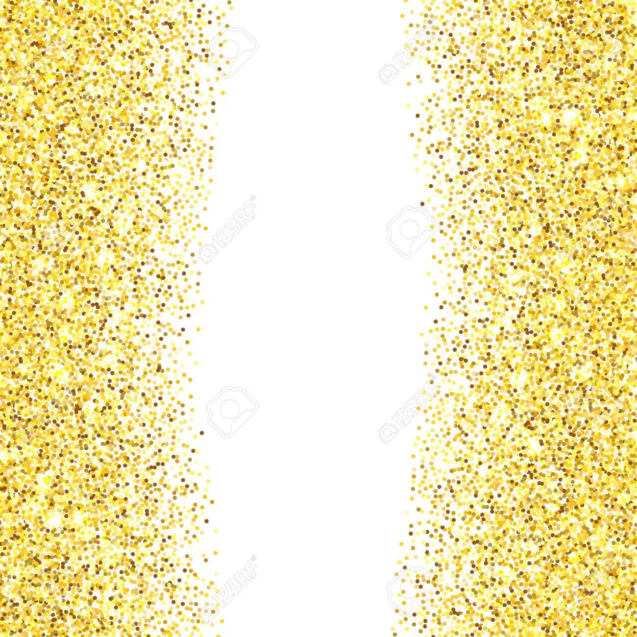 Confetti background vector golden confetti background - Gold Glitter Texture Border Over White Background Abstract Golden Sparkles Of Confetti Vector Illustration