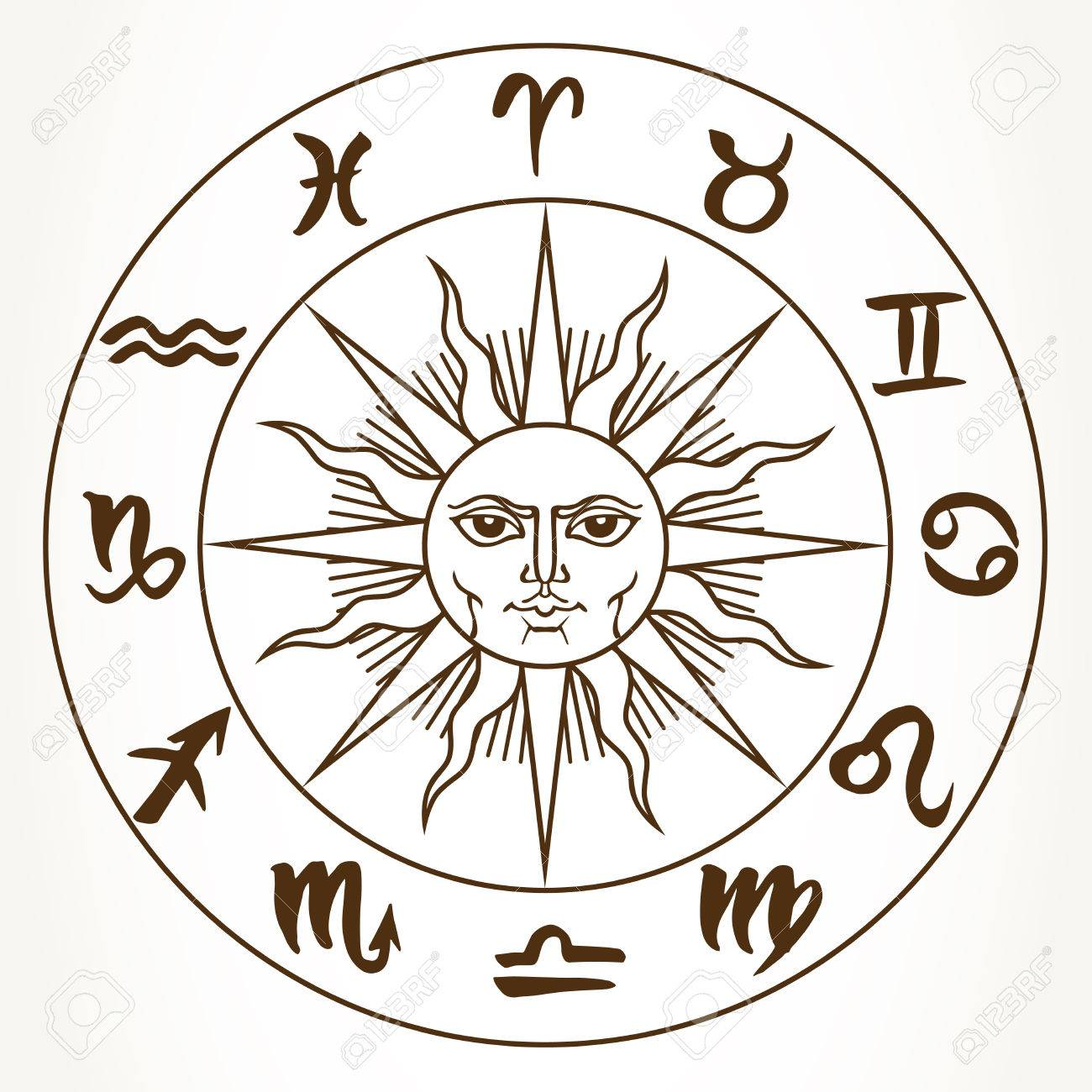 Astrological Symbol For Sun Clipart Library