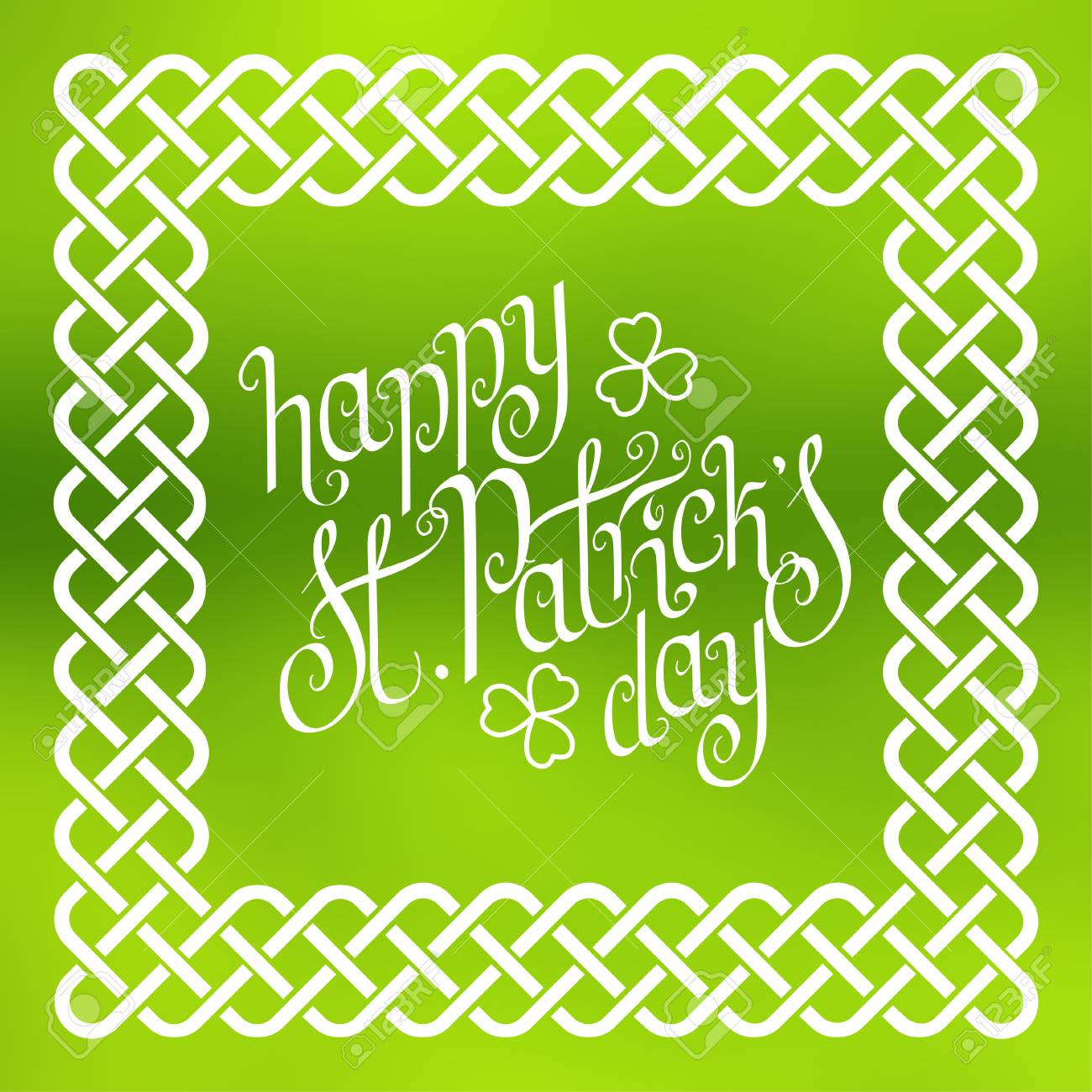 Hand Written St Patricks Day Greetings In Traditional Style