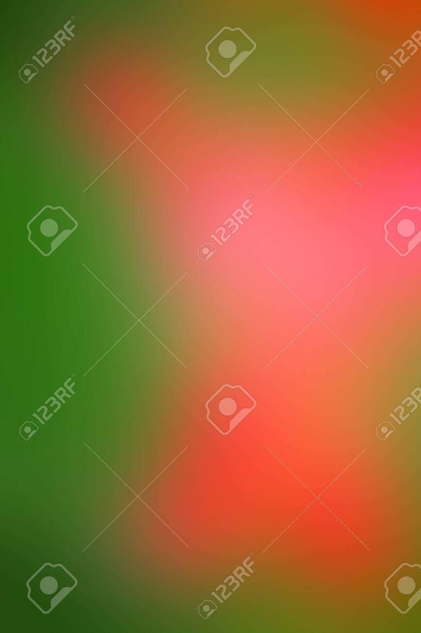 Vector abstract smooth blur orange and green defocused background. Vertical format. - 122777020