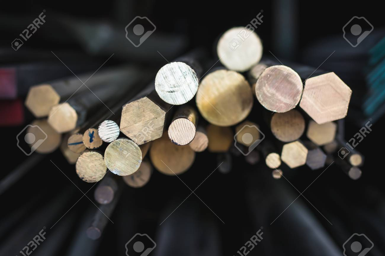 Brass Rods Sale At Storehouse Stock Photo, Picture And Royalty Free ...