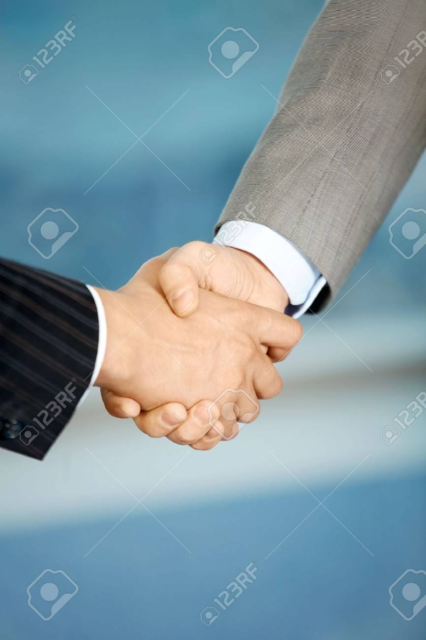 Close up of the businessmen shaking hands each other Stock Photo - 5057089
