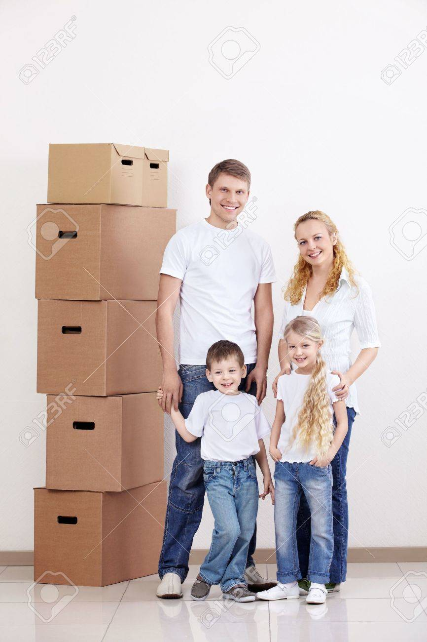 Families with young children at home Stock Photo - 9606181