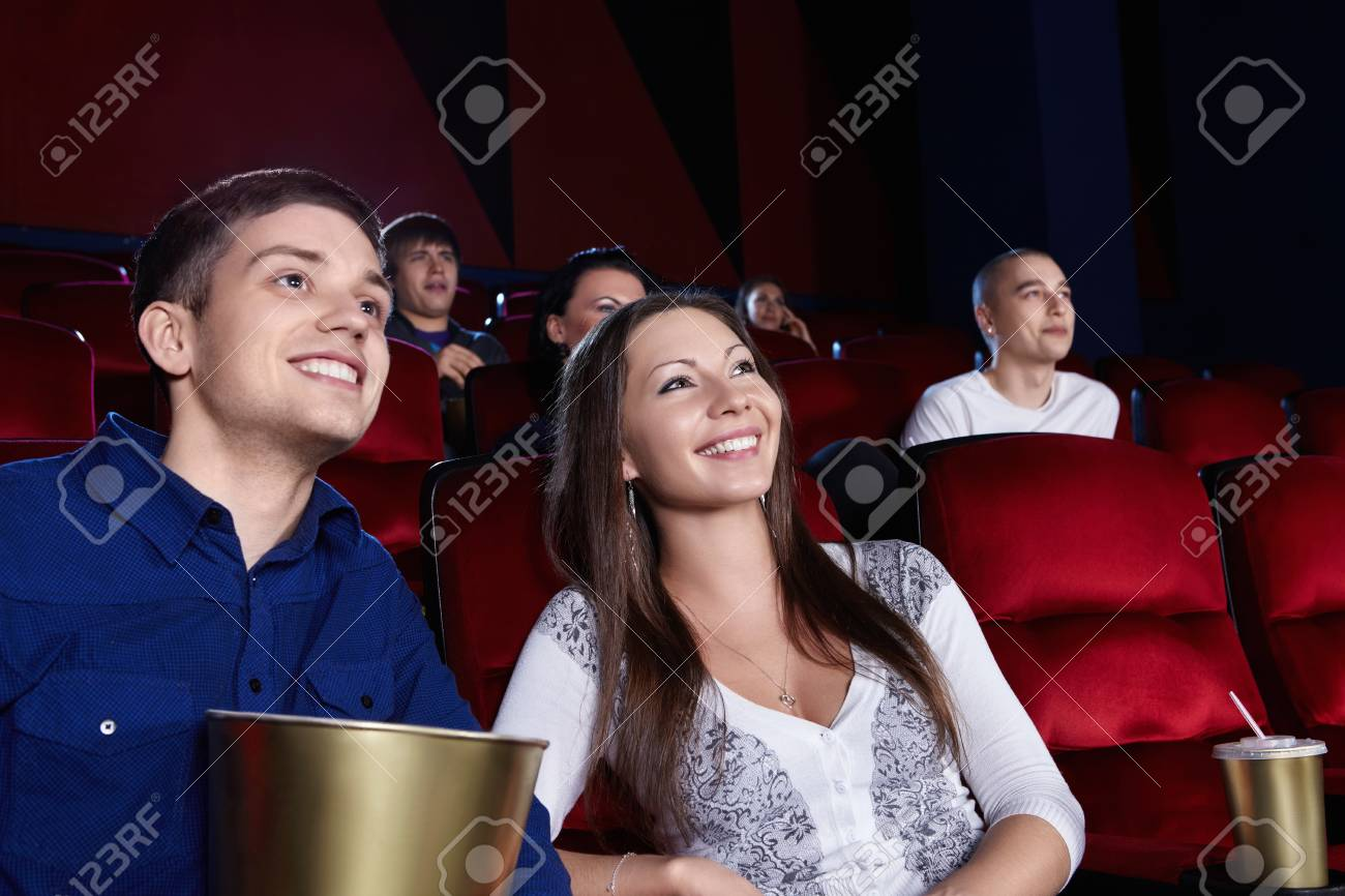 Young people in the cinema Stock Photo - 13709425