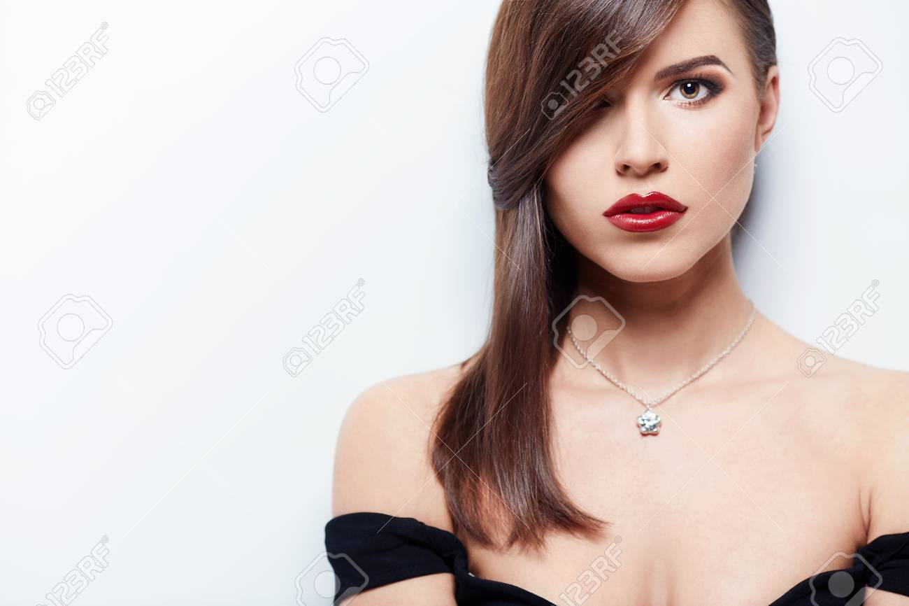 Beautiful girl with make-up in studio Stock Photo - 17758846