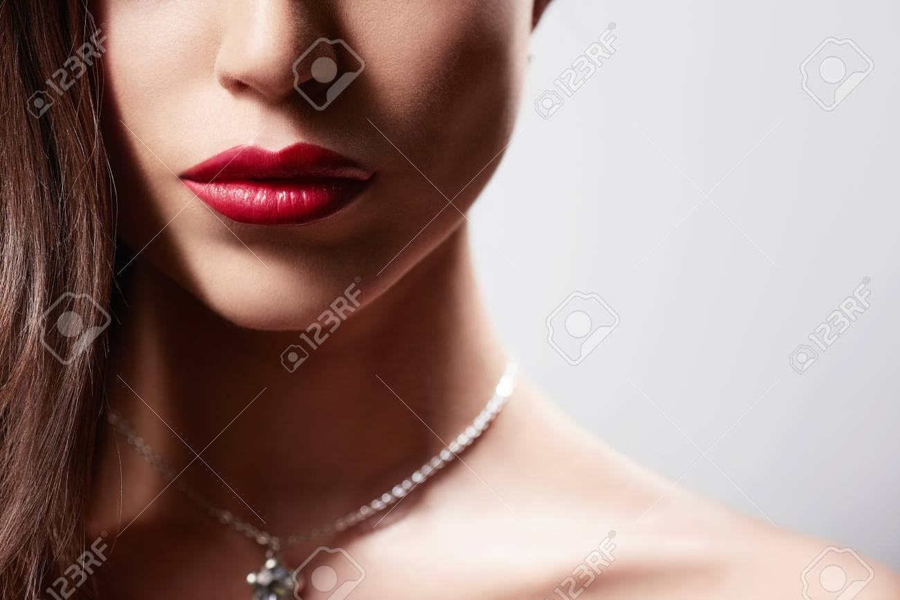 Beautiful girl with make-up in studio Stock Photo - 17758857