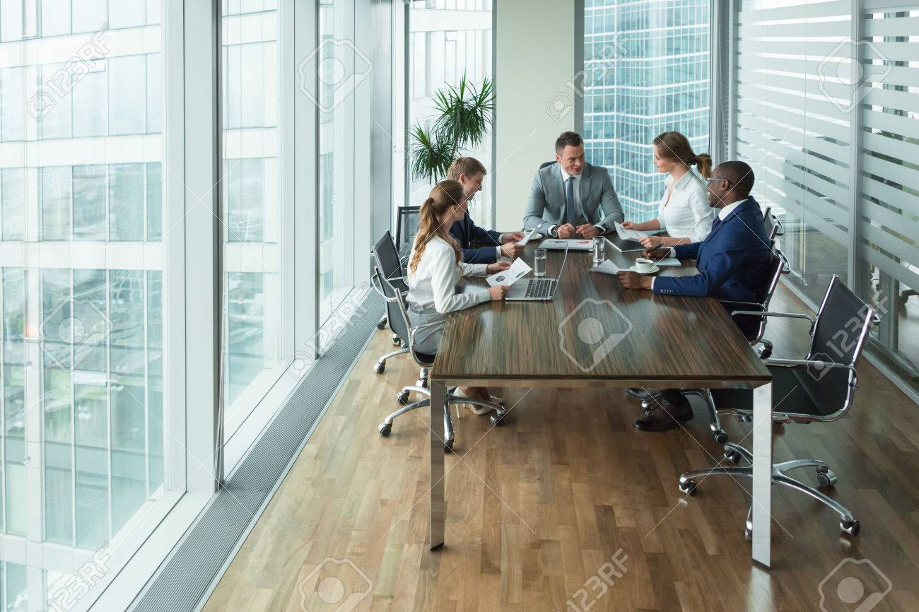 Business people at meeting - 56780676