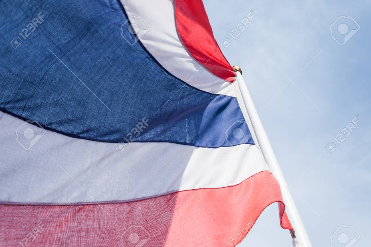 Kingdom of Thailand flag blowing in the wind Stock Photo - 12674993