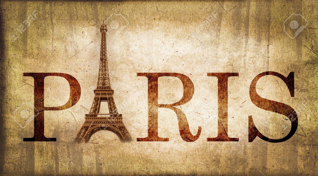 Vintage Word Paris With The Eiffel Tower France Stock Photo Picture And Royalty Free Image Image 31269690