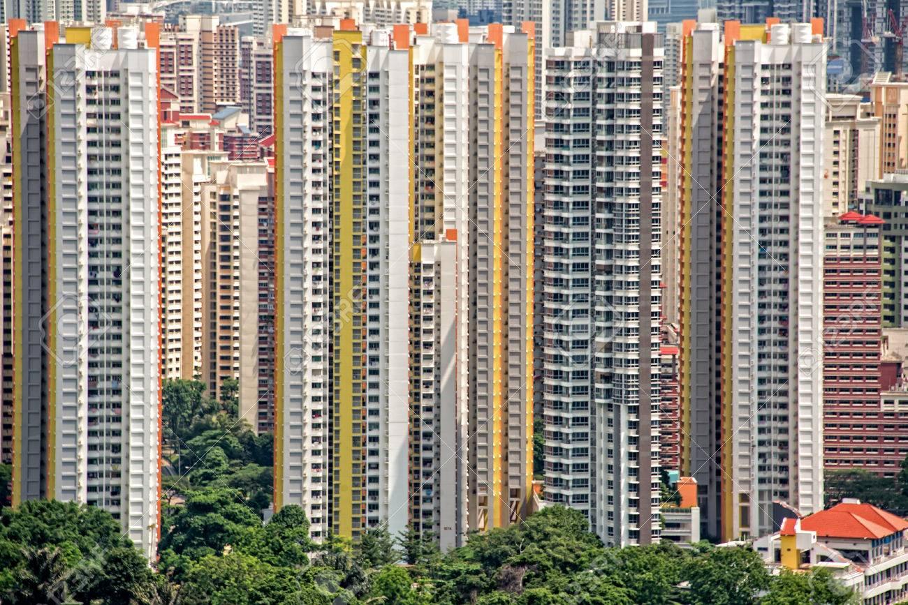 High Rise Apartments Blocks In Singapore Stock Photo   40874713