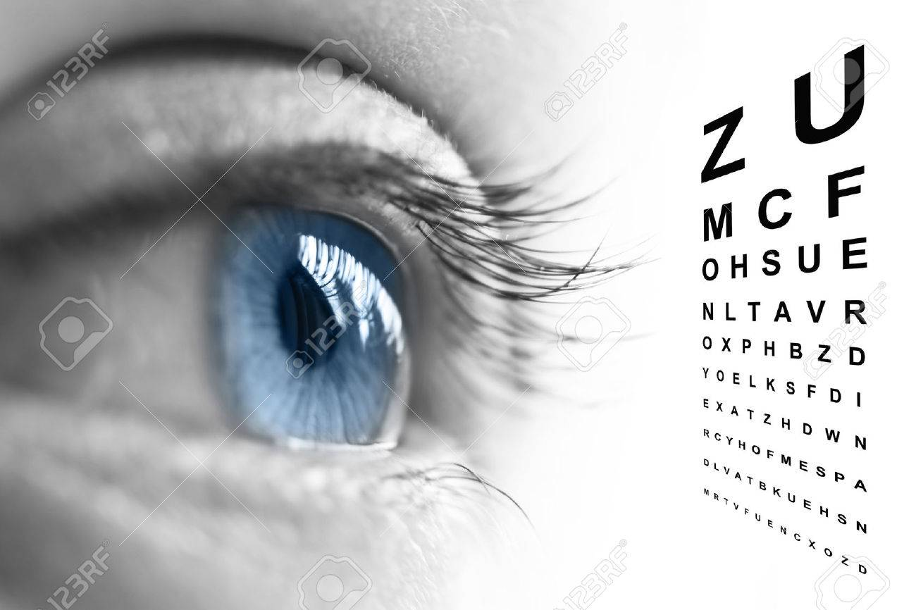 Close up of an eye and vision test chart stock photo picture and close up of an eye and vision test chart stock photo 41069459 geenschuldenfo Image collections