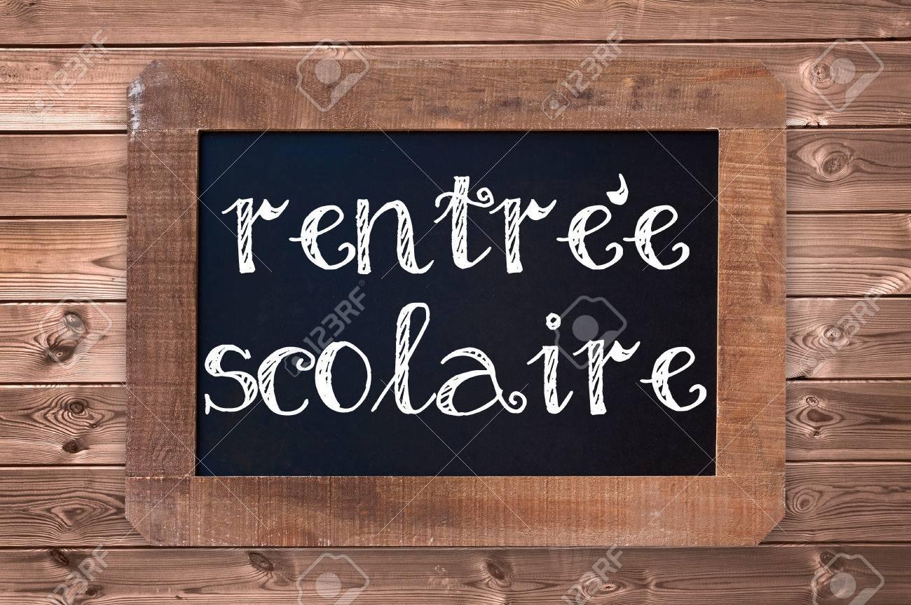 Rentree Scolaire Was Bedeutet Zurück In Der Schule Auf Einem