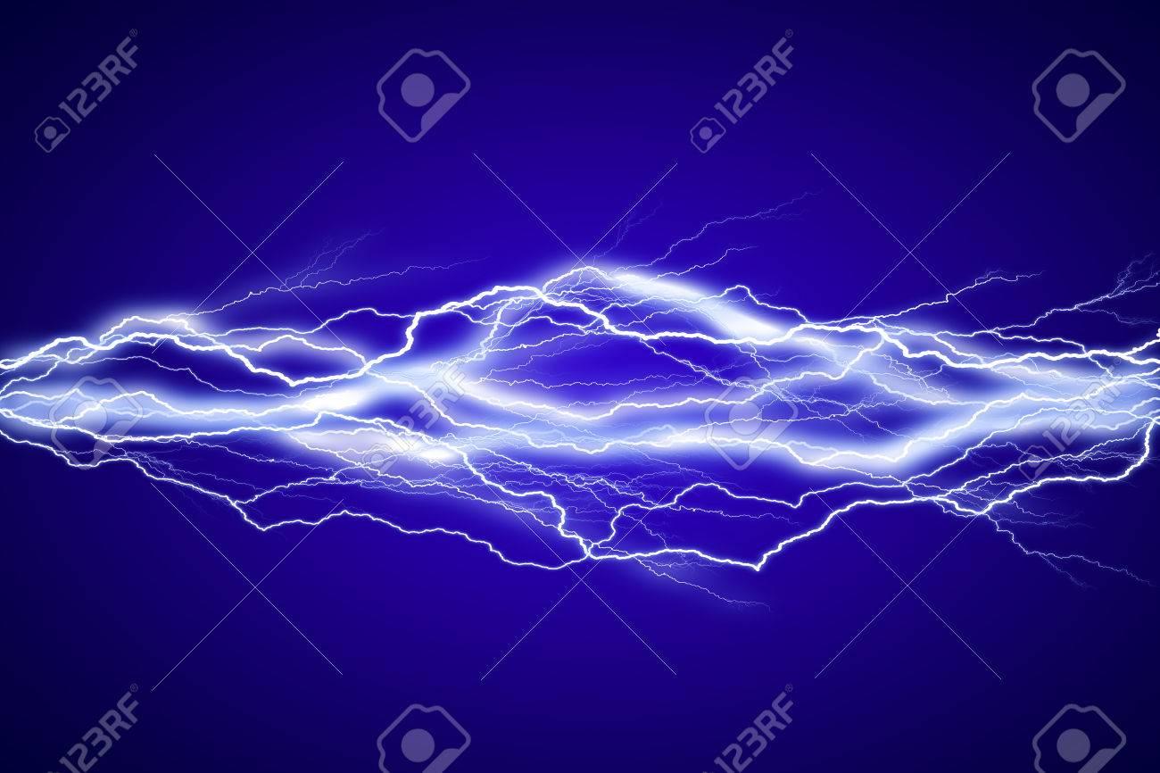 Lightenings effect background in blue sky - 50869509