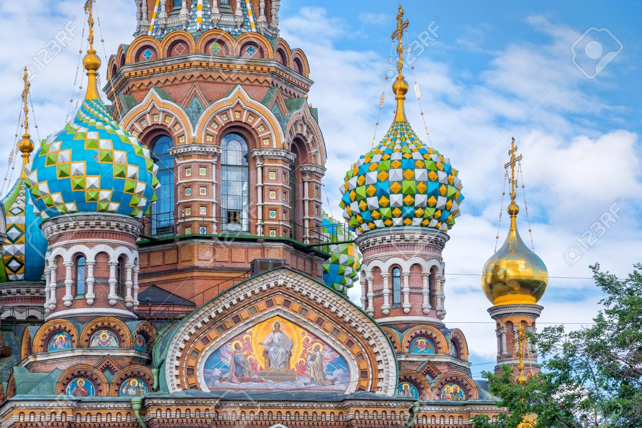 church of the savior on spilled blood st petersburg russia stock