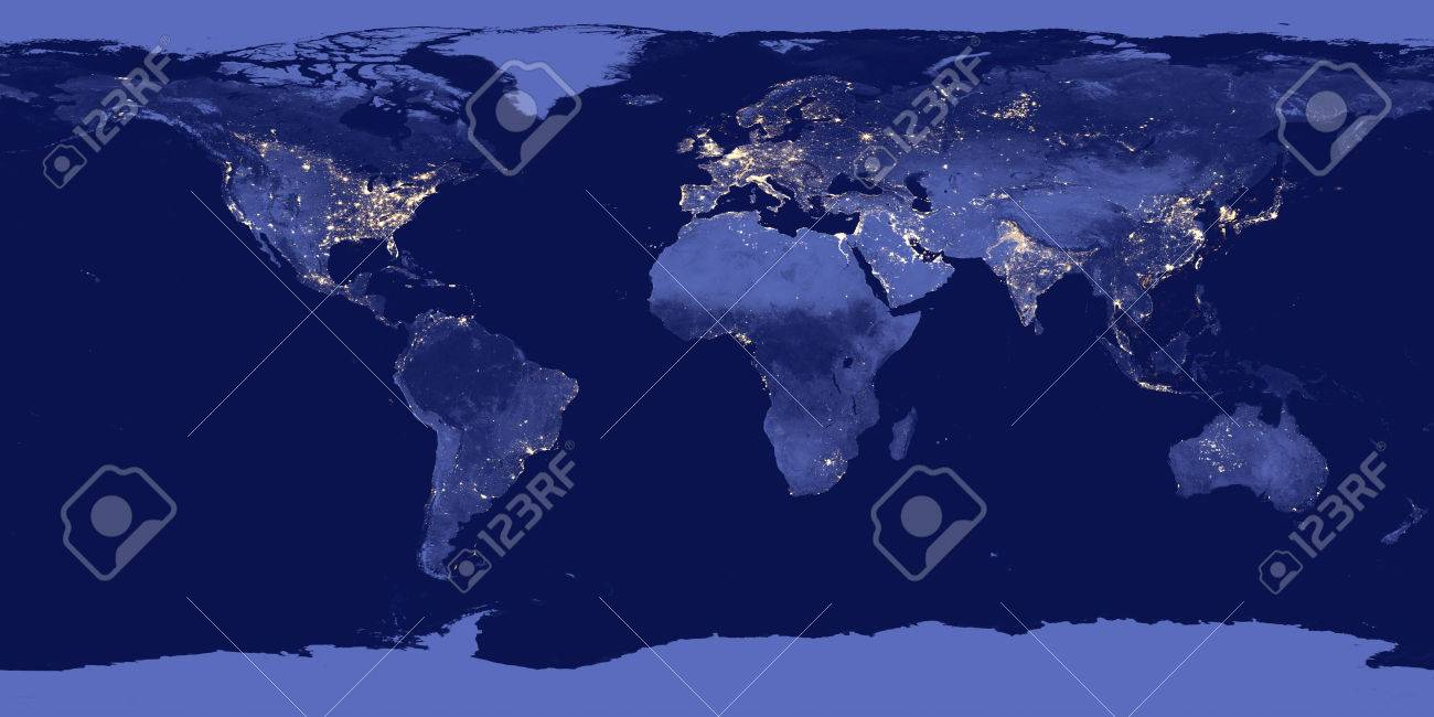 Earth by night - Elements of this image are furnished by NASA - 73007612