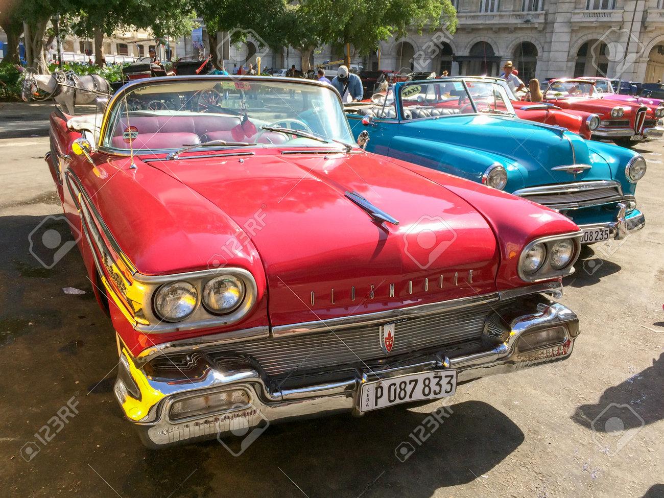 American Classic Cars >> Havana Cuba April 18 Vintage American Classic Cars Parked