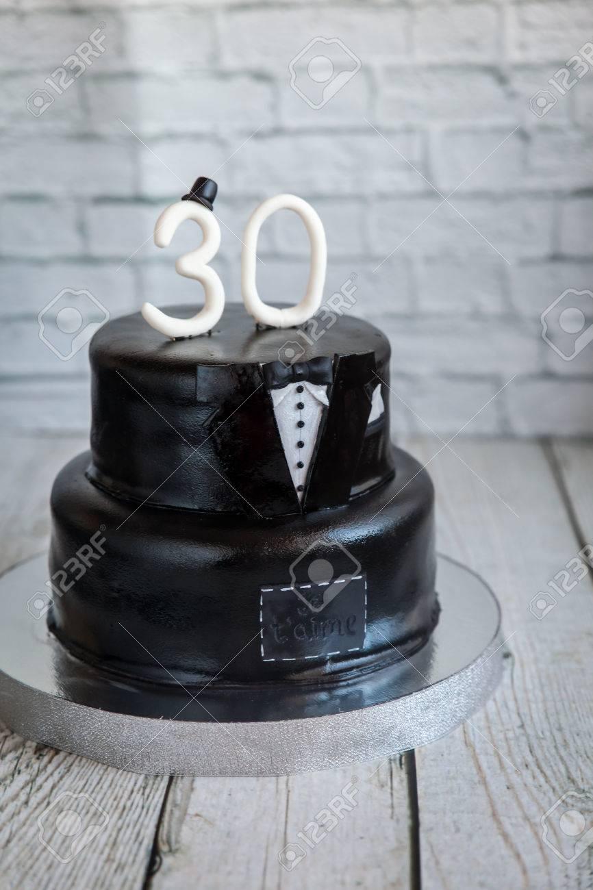Outstanding White And Black Tuxedo Wedding Or Mans Birthday Cake With White Personalised Birthday Cards Akebfashionlily Jamesorg