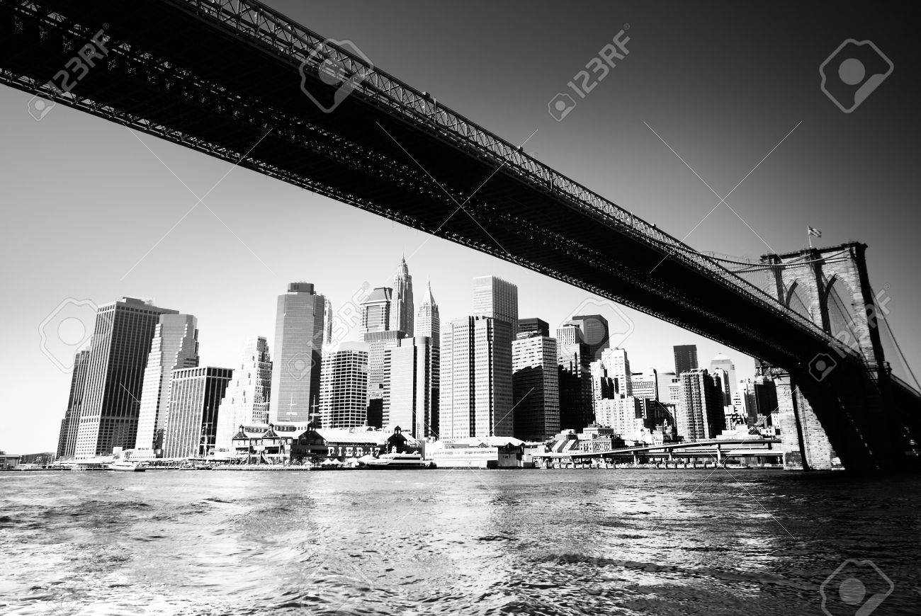 BW new york siluette Stock Photo - 9326507