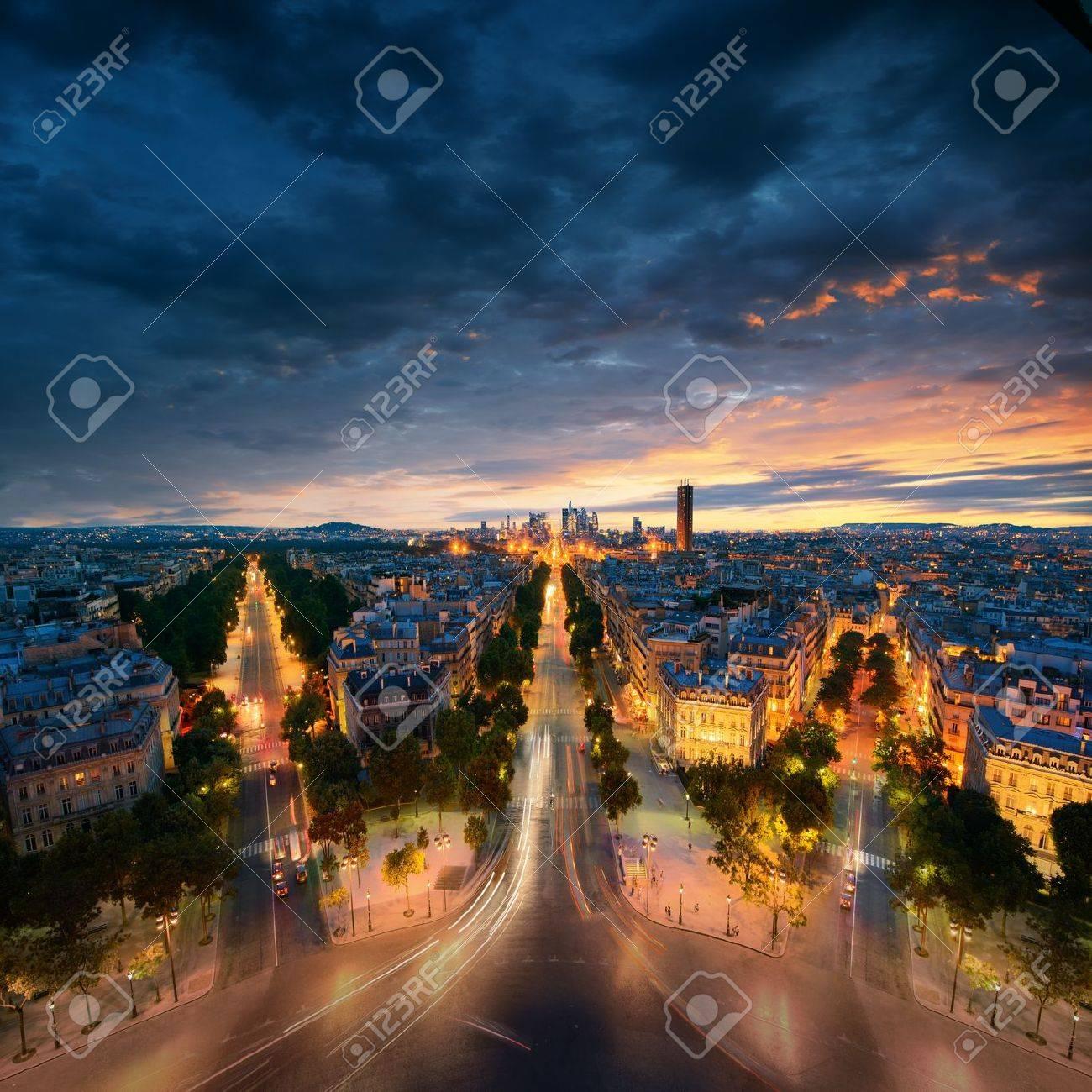 Amazing view to night Paris Stock Photo - 21971289