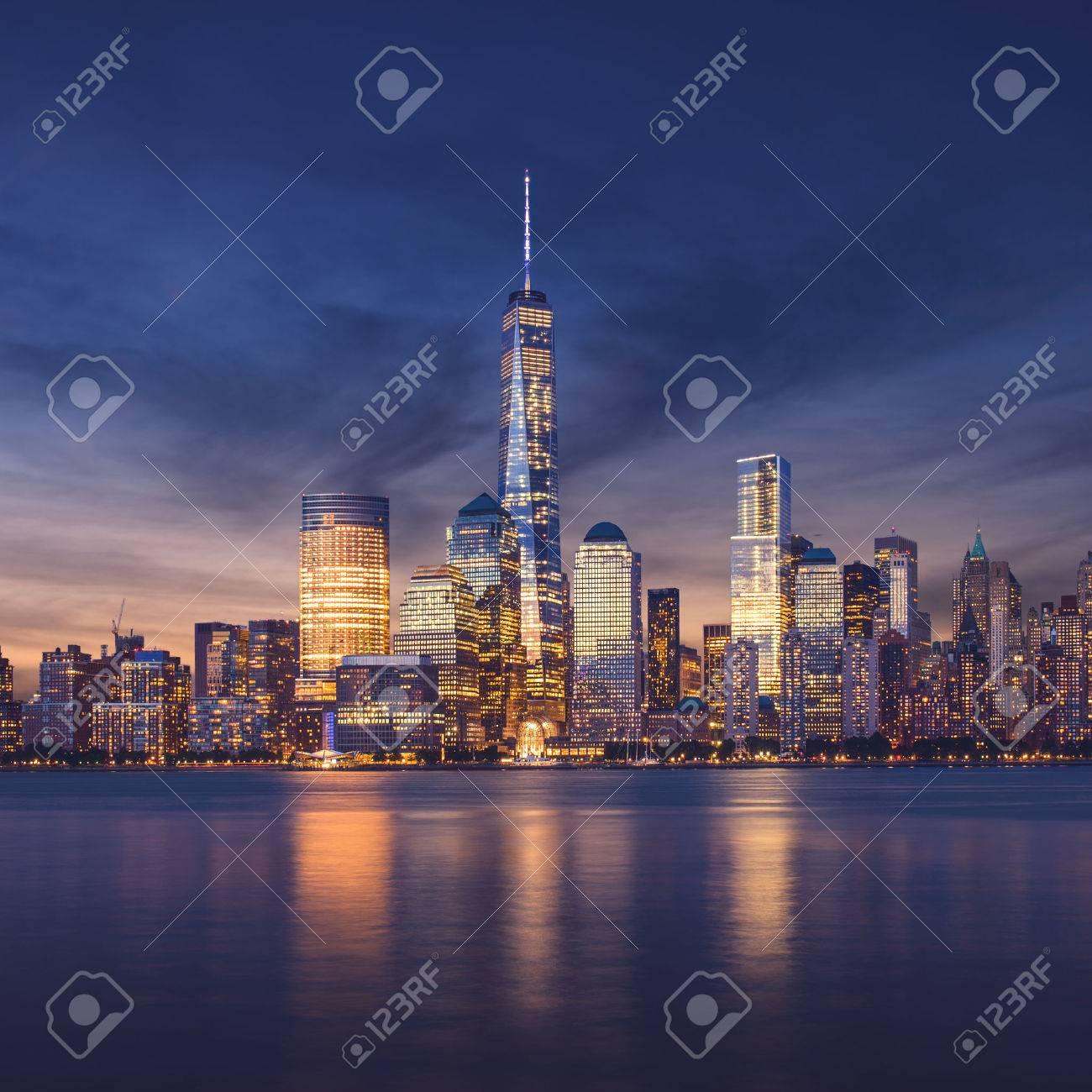 New York City - Manhattan after sunset - beautiful cityscape - 32773912
