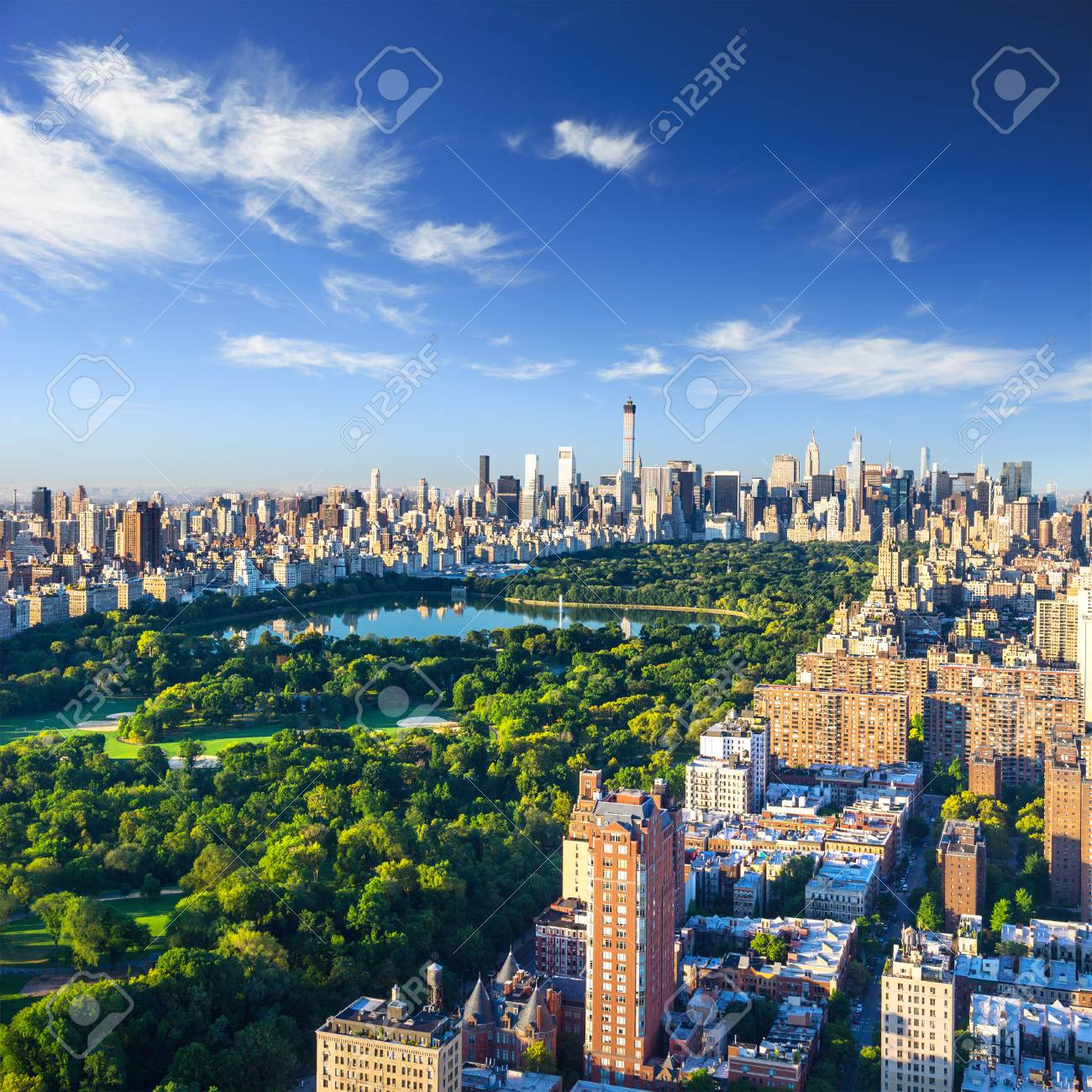 Central Park aerial view, Manhattan, New York - 100284867