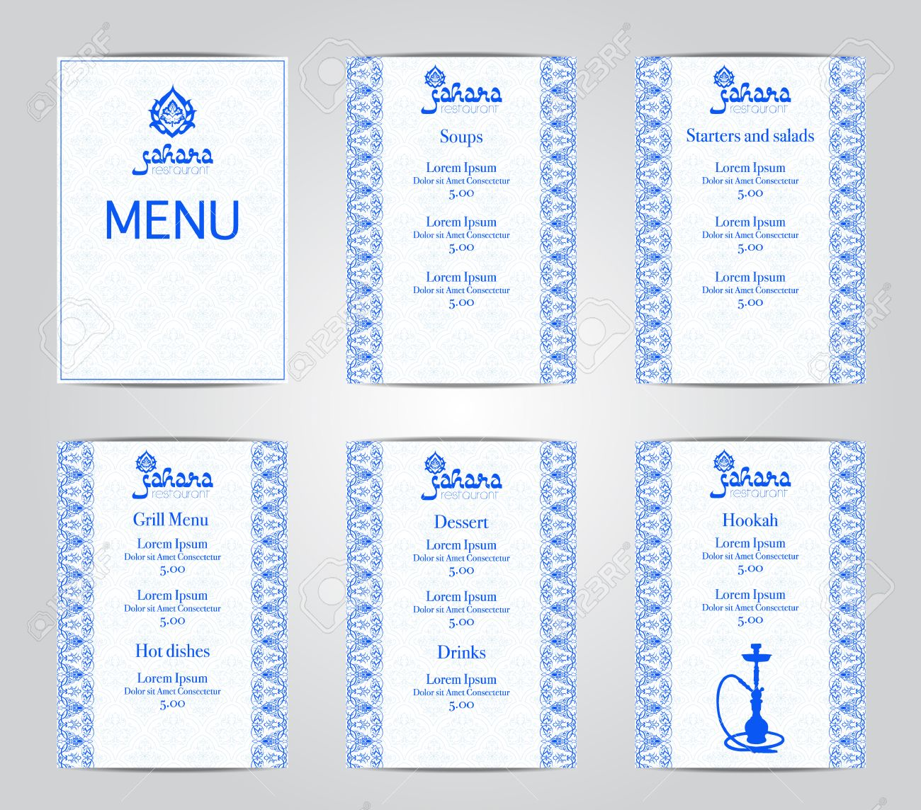 Vector Illustration Of A Menu Card Template Design For A Restaurant Royalty Free Cliparts Vectors And Stock Illustration Image 60242425